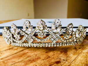 Antique crystal tiara for sale