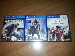 3 great ps4 games!