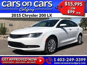 2015 Chrysler 200 LX w/BlueTooth, Satellite Radio, USB Connect $
