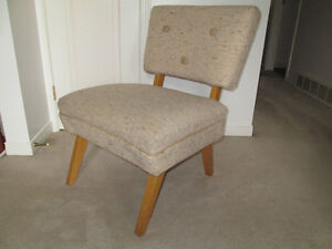 vtg Mid Century slipper chair