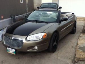 2004 Chrysler Sebring Gold/Black Convertible