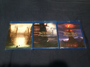 Lord of the rings trilogy extended edition blu-ray NEW