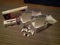 2 xbox 360, 2 HDD, 2 manettes, Kinect, Guitar