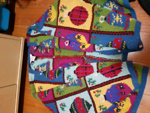 Christmas sweater size large hand-knitted