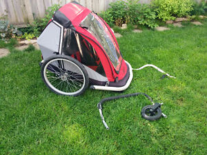 MEC Bike Trailer - double - with stroller conv.