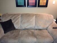 FREE microfiber couch and love seat