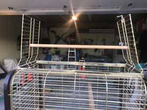 Large open top bird cage