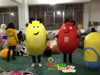 M&M Chocolate Candy Mascot Advertising Store Costume Suit Dress Party Adult 2018](Party Costumes Stores)