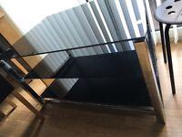 Black glass table £70
