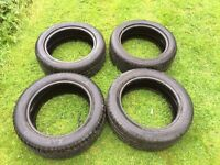 4 Tyres suitable for a Vauxhall Corsa 195/55/R16