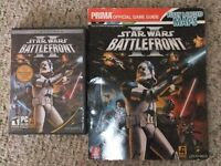 STAR WARS BATTLEFRONT II DISC PLUS OFFICIAL GAME GUIDE.MINT-OBO.