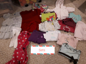 Baby girl 6 months clothing - all seasons