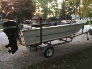 16 Ft. Starcraft Aluminum boat- Mercury 50 outboard with trailer