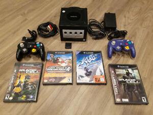 Ensemble Nintendo GameCube avec 4 jeux et carte mémoire