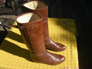 Beautifull womens boots - 7 soft glove leather hand made brown