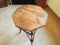 Antique bamboo table with Pine top