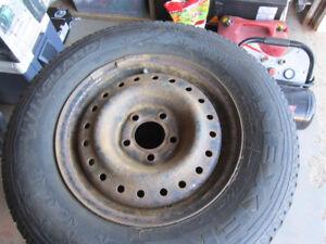 P215/70R15 Nexen Winguard winter tires on rims for sale.