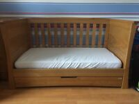 Mamas & Papas Golden Oak Ocean Cot / Day Bed