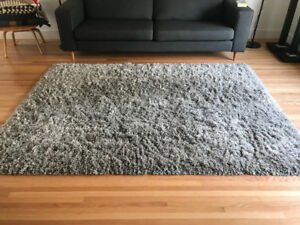 Grey Ikea Gaser Rug Great Condition