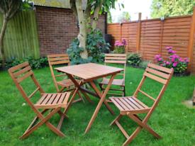 Solid Wood Bistro Garden Set