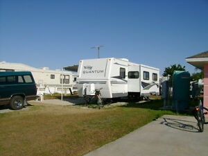travel trailer and truck