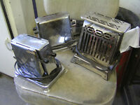 3 OLD TOASTERS $6 EACH ! CABIN COTTAGE DECOR !!