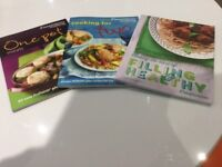 Three WeightWatchers recipe books