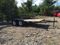 BRAND NEW 14' x 5 1/2' dual axle trailer.