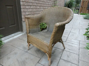Solid Wicker Chair - Great for Sun porch, Deck, Cottage or Patio Kitchener / Waterloo Kitchener Area image 5