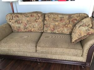 USED SOFA AND CHAIR SOLID WOOD