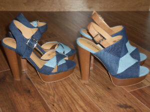 SANDALES EN DENIM POINTURE 8