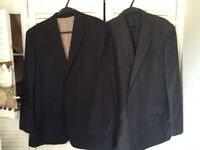 2 men's suit jackets 42-44 inches just been dry cleaned Havelland and Racing Green