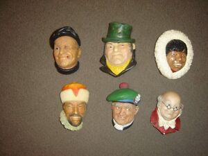 6 VINTAGE BOSSON HEADS