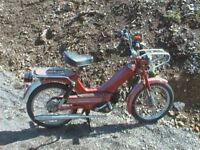 1970's Classic Tomos 2 speed Moped, excellent rust free condition with spare engine and parts.