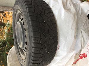 Toyota corrolla tires and rims 195/65/15 Gatineau Ottawa / Gatineau Area image 2
