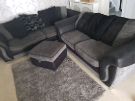 Make me an offer! DFS 4 & 2 seater sofa plus footstool