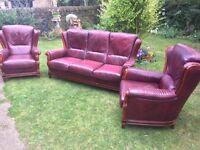 Cottage leather sofa