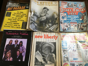 Vintage Music Magazines, Sheet Music, 1920s-1940s and Elton John