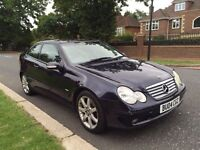 2004 MERCEDES C220 AUTO SPORT EVO #GLASS ROOF#LEATHER SEATS# 1 YEARS MOT#