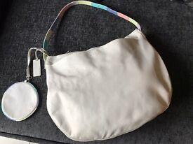 Beautiful Cream Leather Radley Handbag