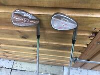Callaway 56 & 58 degree wedges. Rusty model. Both immaculate. Not Titleist Taylor made ping