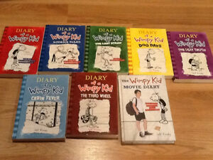 DIARY OF A WIMPY KID BOOK LOT - ONLY $30.00!