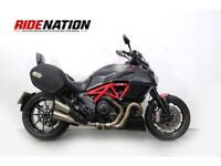 Ducati Diavel, the amazing Carbon edition with luggage,1198cc of 'V' twin power