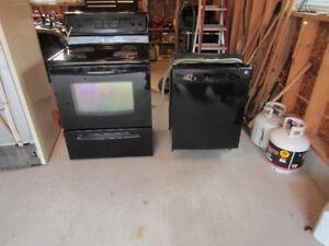 stove, dishwasher and washing machine