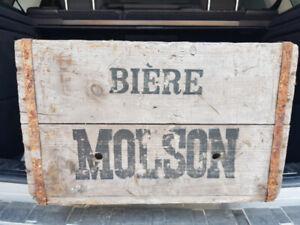 Boites de bière anciennes Molson