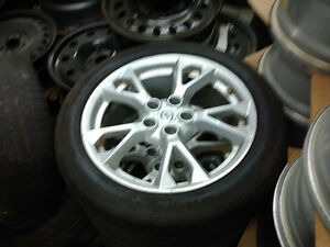 245 45 18 GoodYear RSA on 2014 Nissan Maxima OEM Alloys 5x114.3