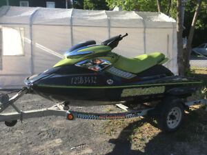 Mint 2004 Bombardier RXP SeaDoo Green with Trailer