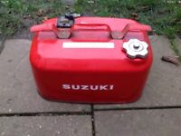 Metal outboard boat fuel can tank