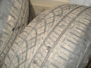 "15"" Set (4) All season tires 205X65X15"" on steel reems 5X100mm Kitchener / Waterloo Kitchener Area image 1"