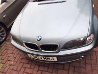2003 BMW 4 DOOR SALOON GREEN PETROL 2.0**FOR BEARKING**